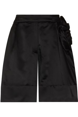 Simone Rocha Rose detail sculpted shorts