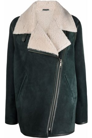 Isabel Marant Women Blazers - Double-breasted shearling-lined jacket