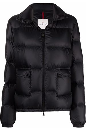 Moncler Women Jackets - Logo-patch padded down jacket