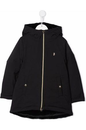 HERNO Girls Parkas - Zipped padded parka coat