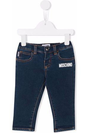 Moschino Logo-print cotton jeans