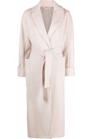 BLANCA Side-slit belted coat