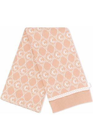 Chloé Girls Scarves - Intarsia-knit logo scarf