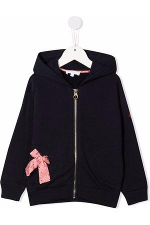 Chloé Bow-detail zip-up hoodie