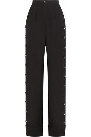 Dolce & Gabbana Women Wide Leg Pants - Button-detail palazzo pants