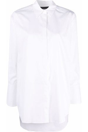 Emporio Armani Women Tops - Concealed-front shirt
