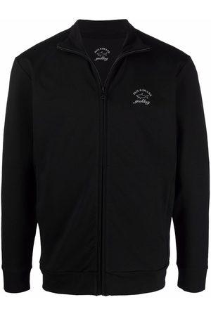 Paul & Shark Men Sweatshirts - Logo-print zip-up sweatshirt