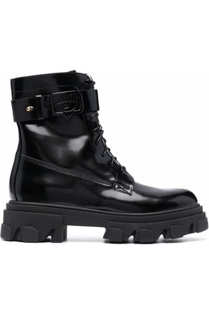 Chiara Ferragni High-shine lace-up combat boots
