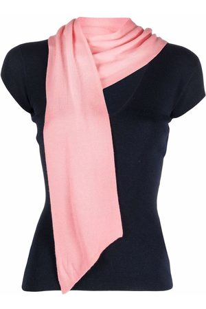 Dior 2010 pre-owned scarf detail knitted top