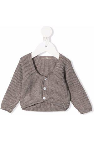 LITTLE BEAR Baby Cardigans - Stone wool cardigan