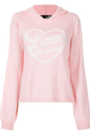 Love Moschino Embroidered-logo pullover hoodie