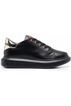 Love Moschino Heart-motif leather sneakers