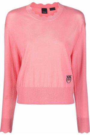 Pinko Women Jumpers - Embroidered logo wool pullover