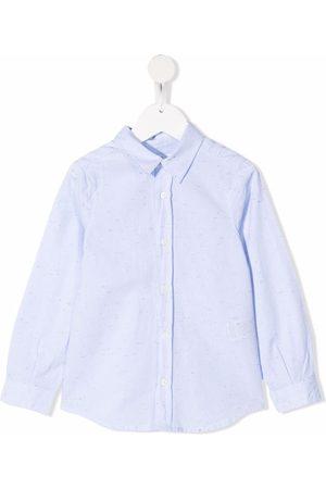 BONPOINT Boys Long Sleeve - Speckle-detail long-sleeve shirt