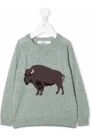 BONPOINT Cashmere-blend bull knit jumper