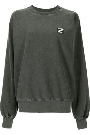 We11 Done Women Sweatshirts - Chest logo-patch sweatshirt
