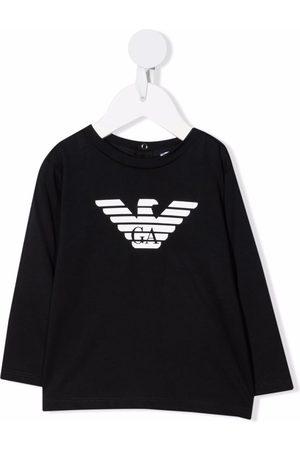 Emporio Armani Baby Long Sleeve - Logo-print cotton T-Shirt