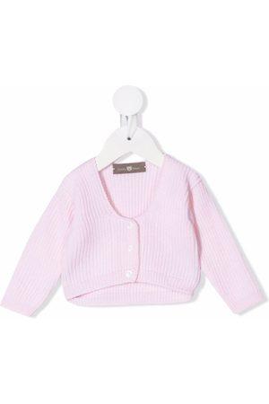 LITTLE BEAR Ribbed knit virgin wool cardigan
