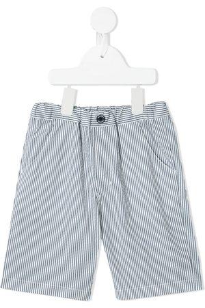 Familiar Striped cotton shorts
