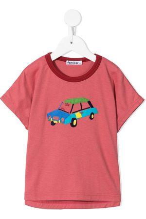 Familiar Boys Short Sleeve - Car appliqué cotton T-shirt