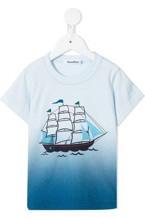 Familiar Boys Short Sleeve - Gradient-print cotton T-shirt