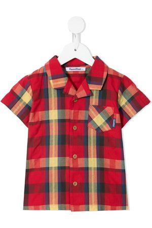 Familiar Boys Short Sleeve - Check-print short-sleeve shirt