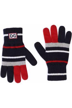 Dolce & Gabbana Boys Gloves - Striped virgin wool gloves