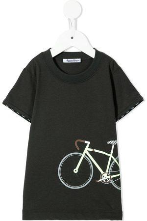 Familiar Boys Short Sleeve - Bicycle-print cotton T-shirt