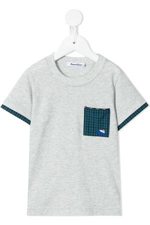 Familiar Chest-pocket cotton T-shirt