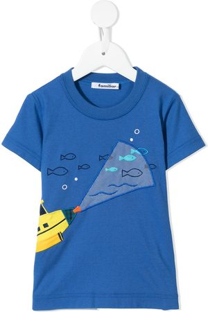 Familiar Submarine-motif cotton T-shirt