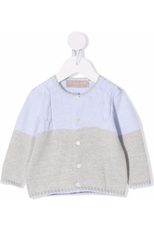 LA STUPENDERIA Baby Cardigans - Two-tone button-up cashmere cardigan