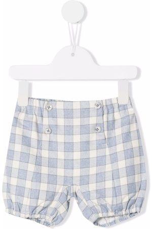 LA STUPENDERIA Check-print button-detail shorts