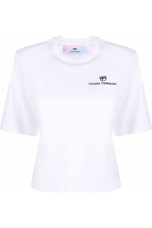 Chiara Ferragni Women Short Sleeve - Embroidered-logo T-shirt