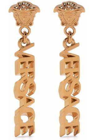 VERSACE Women Earrings - Logo drop earrings