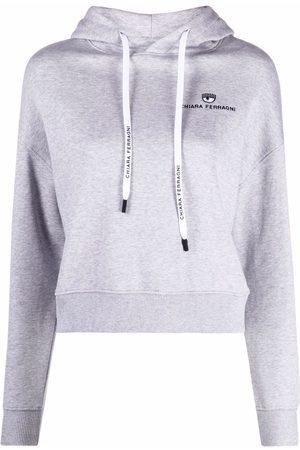 Chiara Ferragni Women Hoodies - Embroidered-logo hoodie