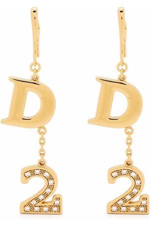 Dsquared2 Women Necklaces - Logo-pendant drop earrings
