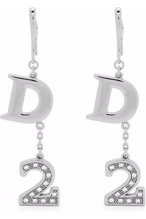 Dsquared2 Logo-pendant drop earrings