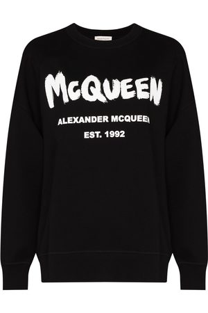 Alexander McQueen Graffiti print crew neck sweatshirt