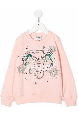 Kenzo Girls Sweatshirts - Elephant print sweatshirt