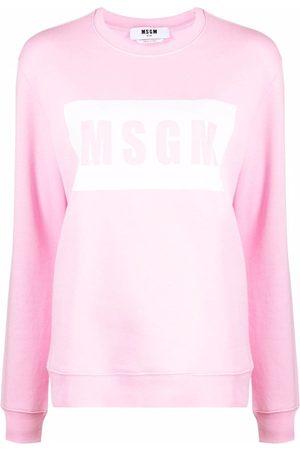 Msgm Crew neck logo-print sweatshirt