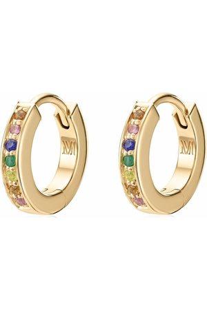 Monica Vinader Skinny gemstone huggie earrings