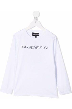 Emporio Armani Boys Long Sleeve - Logo print T-shirt
