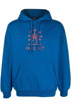 PACCBET Men Sweatshirts - Logo-print drawstring hoodie