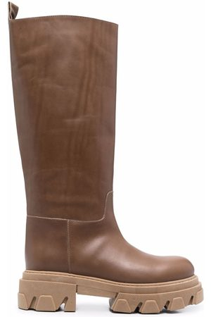 P.a.r.o.s.h. Women Boots - Ridged leather boots