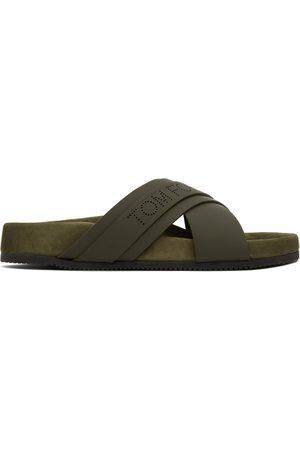 TOM FORD Green Wicklow Slider Sandal