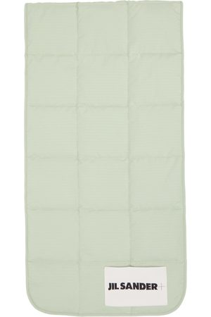 Jil Sander Green Down Quilted Scarf