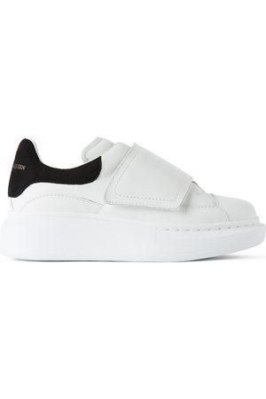 Alexander McQueen Kids & Suede Tab Velcro Oversized Sneakers