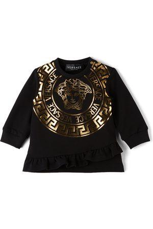 Versace Baby Medusa Print Sweater Dress