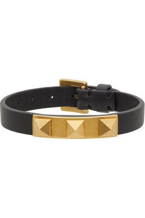 Women Bracelets - Valentino Garavani Leather Rockstud 3 Stud Bracelet