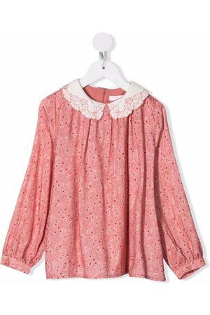 Chloé Kids Girls Blouses - Paisley-print cotton blouse